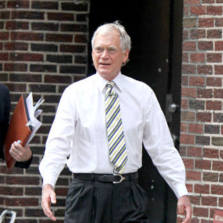 David Letterman Outside The Ed Sullivan Theatre for the 'Late Show With DavidLetterman'