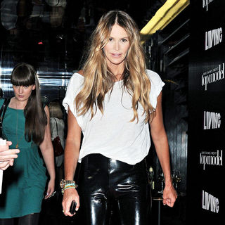 Elle MacPherson in Elle MacPherson Leaving Circus After Attending Britain's Next Top Model Series 6 Launch Party