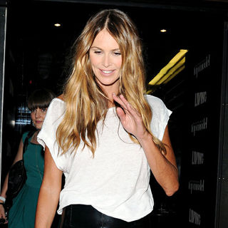 Elle MacPherson Leaving Circus After Attending Britain's Next Top Model Series 6 Launch Party