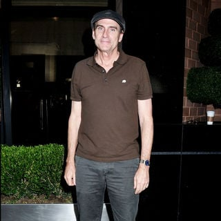 James Taylor Departs His Manhattan Hotel