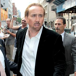Nicolas Cage in Nicolas Cage Outside The Ed Sullivan Theatre for The 'Late Show With David Letterman'