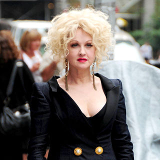 Cyndi Lauper in Cyndi Lauper Outside The Ed Sullivan Theater for 'The Late Show' with David Letterman Show