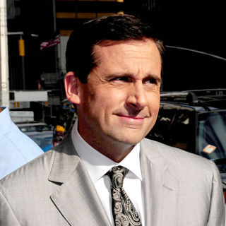 Steve Carell in Steve Carell Outside The Ed Sullivan Theater for 'The Late Show' with David Letterman Show