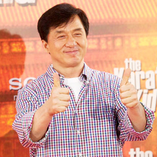 Jackie Chan in The 'Karate Kid' Madrid Photocall
