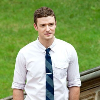 Justin Timberlake in On The Set of New Film 'Friends with Benefits'