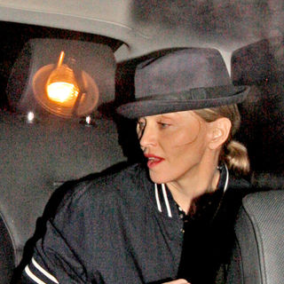 Madonna - Madonna Leaving Aura Nightclub at 2AM Wearing A Fedora Hat