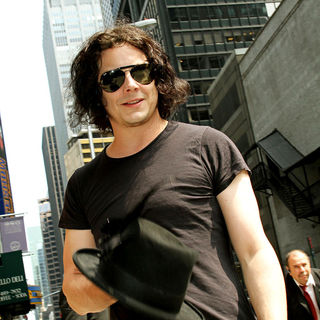 Jack White in Jack White Outside The Ed Sullivan Theater for 'The Late Show' with David Letterman Show