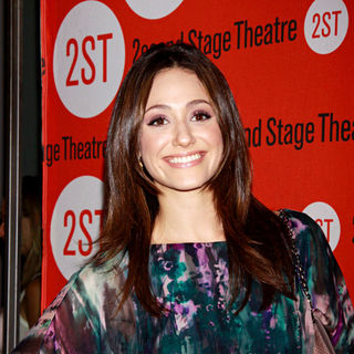 Emmy Rossum in Emmy Rossum Wearing Theia Opening Night of The Off-Broadway Production of 'Trust'