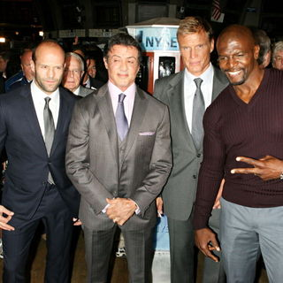 Jason Statham, Sylvester Stallone, Dolph Lundgren, Terry Crews in The Cast of 'The Expendables' Visits The New York Stock Exchange to Ring The Opening Bell