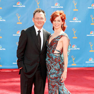 Michael Emerson, Carrie Preston in The 62nd Annual Primetime Emmy Awards