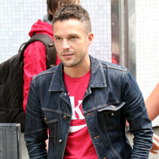Brandon Flowers Outside The ITV Studios - wenn5534948