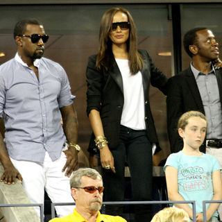 Kanye West, Selita Ebanks in Day 3 of The 2010 U.S. Open