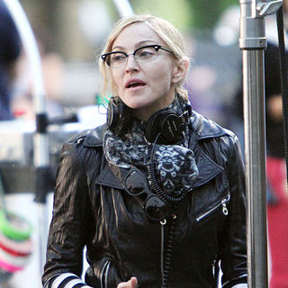 Madonna in Madonna Is Seen Directing on The Set of Her New Film 'W.E.'