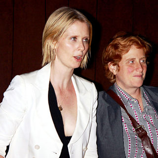 Cynthia Nixon, Christine Marinoni in Cynthia Nixon and Christine Marinoni Seen Out in Midtown Together