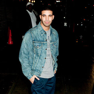 Drake Outside The Ed Sullivan Theater After Appearing on The Late Show with David Letterman