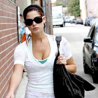 Ashley Greene Arriving at A Gym Wearing Workout Clothes