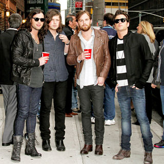 Kings of Leon in Celebrities Outside The Ed Sullivan Theater for 'The Late Show with David Letterman'