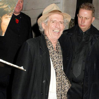 Keith Richards in Keith Richards Leaving Waterstone's Piccadilly After Signing Copies of His New Autobiography 'Life'