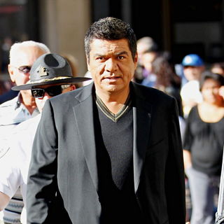 George Lopez Films An Interview For The Entertainment Television News Programme