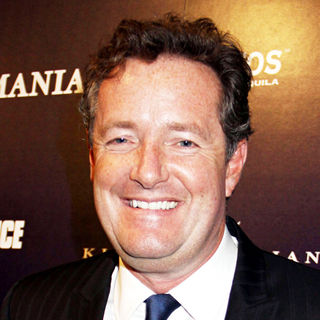 Piers Morgan in Party to Celebrate Perfumania's Appearance with Kim Kardashian on 'The Apprentice'