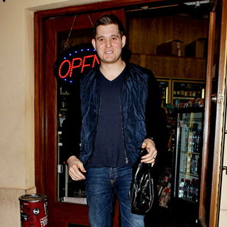 Michael Buble in Michael Buble Leaving Boa Steakhouse