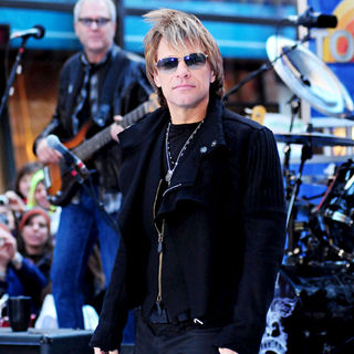 Jon Bon Jovi in Bon Jovi Performing Live at The Rockefeller Center as Part of The 'Today Show' Concert Series