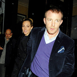 Jacqui Ainsley, Guy Ritchie in Guy Ritchie and Jacqui Ainsley Outside The Punchbowl Pub
