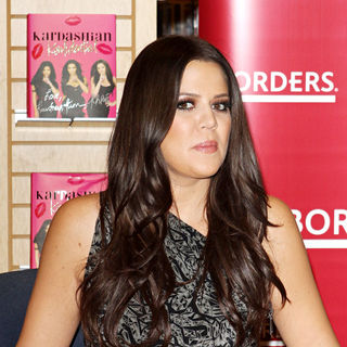 Khloe Kardashian in Kardashian Sisters Sign Copies of Their New Book 'Kardashian Konfidential'