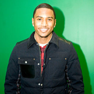Trey Songz in Trey Songz Is Seen at WGCI Coca Cola Lounge Just Before His Performance