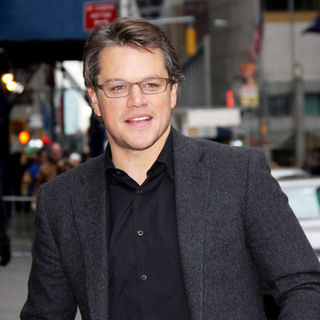 Matt Damon - Matt Damon Outside The Ed Sullivan Theater for 'The Late Show with David Letterman'