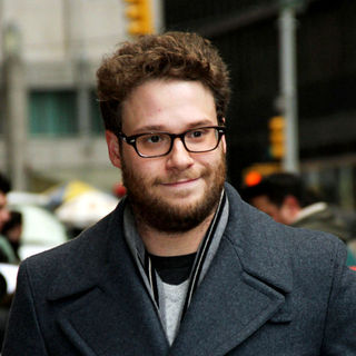 Seth Rogen in Seth Rogen Outside The Ed Sullivan Theater for 'The Late Show with David Letterman'