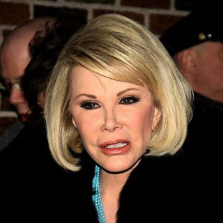 Joan Rivers in Celebrities Outside The Ed Sullivan Theater for 'The Late Show with David Letterman'