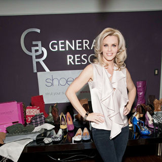 Jenny McCarthy in A Design Session with ShoeDazzle with Profits Benefiting The Charity Generation Rescue