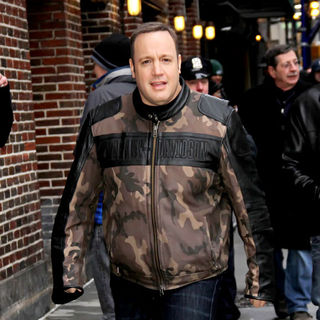 Kevin James in Celebrities Outside The Ed Sullivan Theater for 'The Late Show with David Letterman'