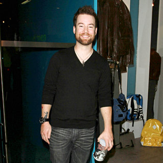 David Cook in The Griddle Cafe's Red Velvet Pancake Mix Launch Party - Inside