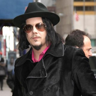 Jack White in Celebrities at The Ed Sullivan Theater For 'The Late Show with David Letterman'