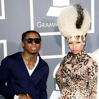 Lil Wayne, Nicki Minaj in The 53rd Annual GRAMMY Awards - Red Carpet Arrivals