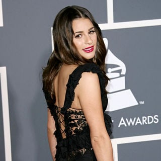 Lea Michele in The 53rd Annual GRAMMY Awards - Red Carpet Arrivals