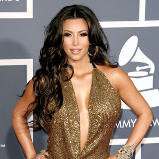 Kim Kardashian in The 53rd Annual GRAMMY Awards - Red Carpet Arrivals