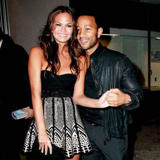 John Legend, Chrissy Teigen in The 2011 Sports Illustrated Swimsuit Launch Party