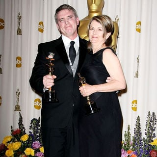 Robert Stromberg, Karen O'Hara in 83rd Annual Academy Awards (Oscars) - Press Room
