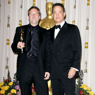 Wally Pfister, Tom Hanks in 83rd Annual Academy Awards (Oscars) - Press Room