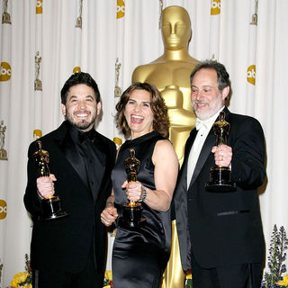 Gary Rizzo, Lora Hirschberg, Ed Novick in 83rd Annual Academy Awards (Oscars) - Press Room