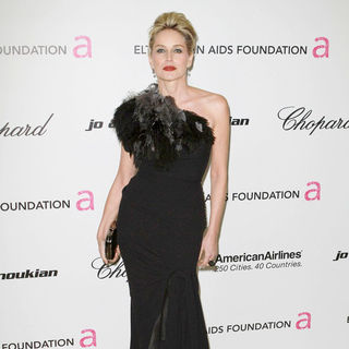 Sharon Stone in 19th Annual Elton John AIDS Foundation Academy Awards Viewing Party - Arrivals