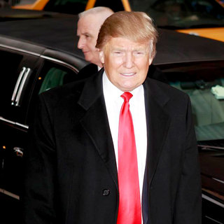 Donald Trump in 'The Late Show with David Letterman' at The Ed Sullivan Theater - Arrivals