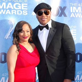 Simone I. Smith, LL Cool J in 42nd NAACP Image Awards - Arrivals