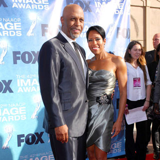 James Pickens Jr., Regina King in 42nd NAACP Image Awards - Arrivals