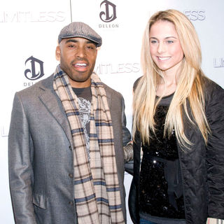 Tiki Barber, Traci Lynn Johnson in The New York Premiere of 'Limitless' - Inside Arrivals