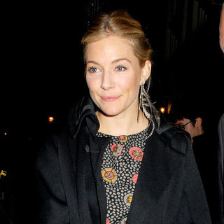 Sienna Miller in Sienna Miller Leaving The Theatre Royal Haymarket After Performing in 'Flare Path'