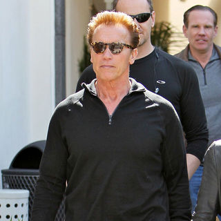 Arnold Schwarzenegger Leaving Caffe Roma in Beverly Hills After Having Lunch - wenn5626530